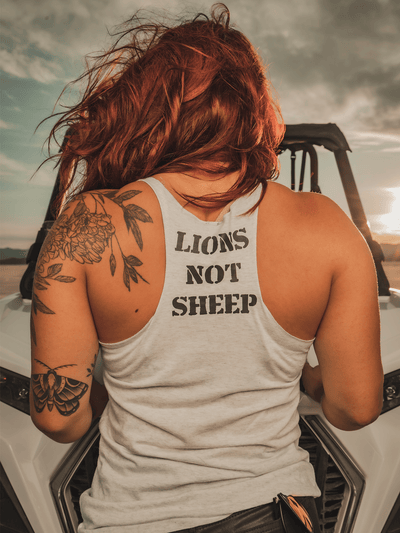 FREEDOM EAGLE Womens Tank - Lions Not Sheep