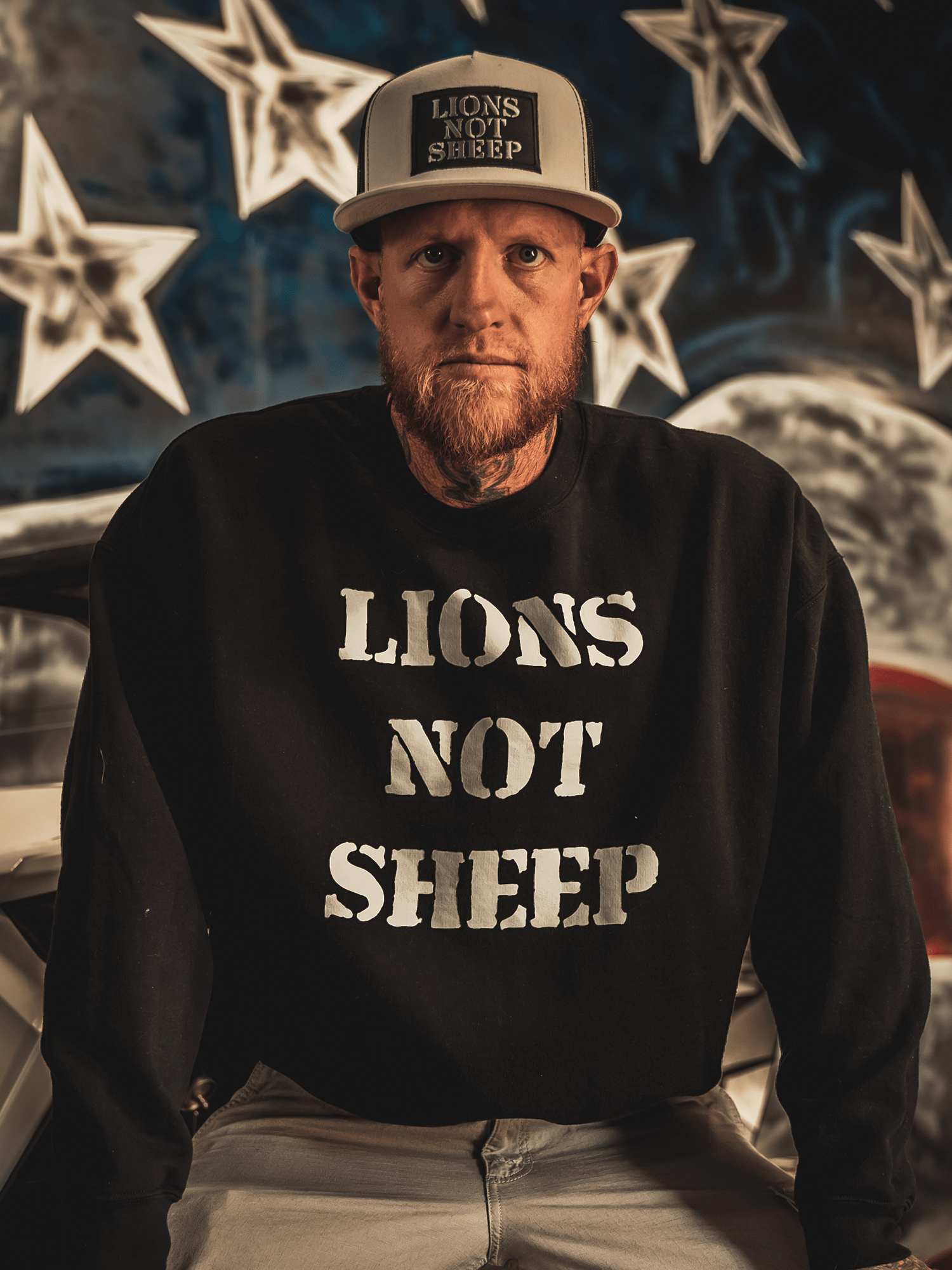 LIONS NOT SHEEP OG Crew Neck Sweatshirt - Lions Not Sheep