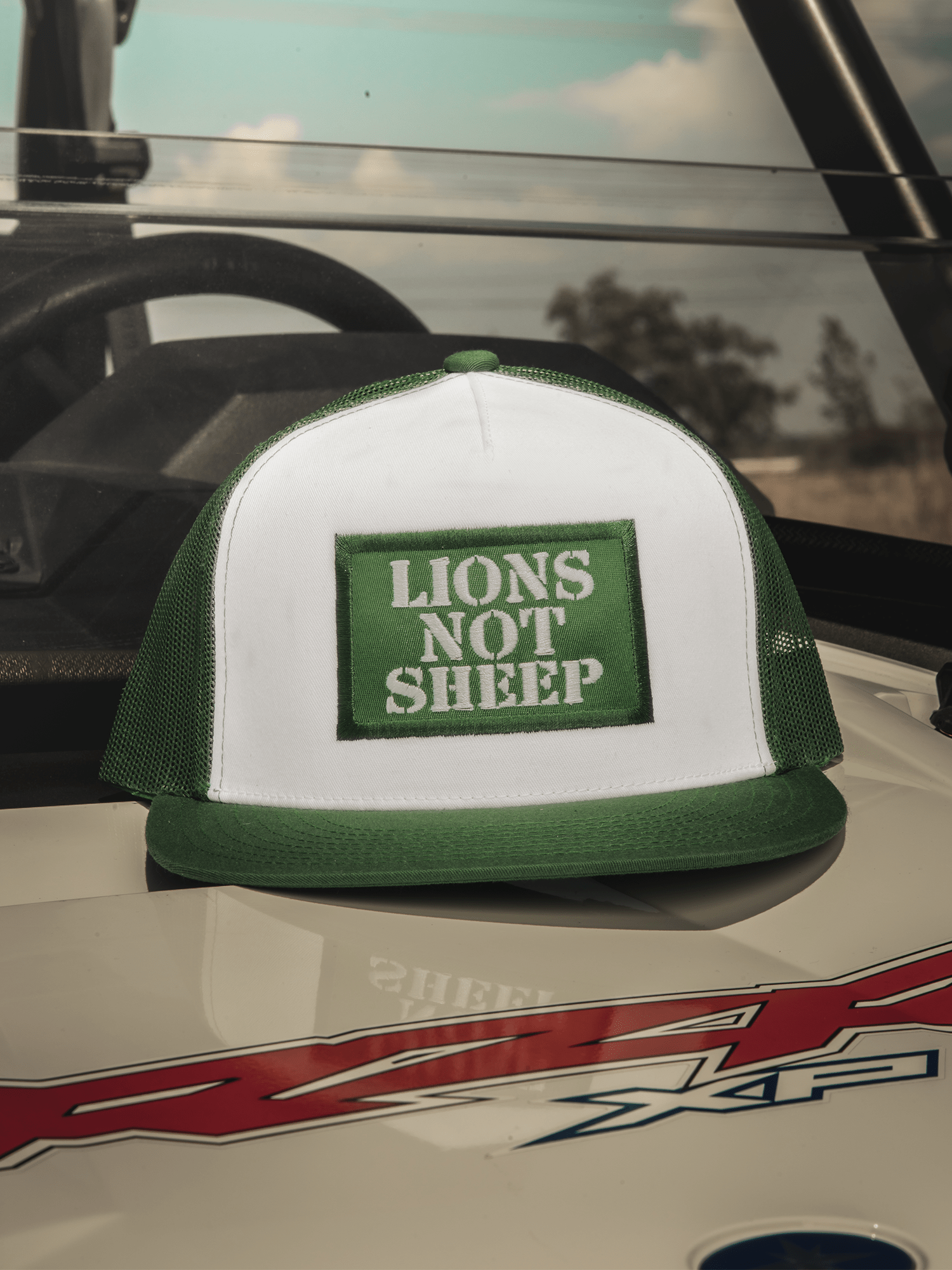 Lions Not Sheep OG Hat (White / Green) - Lions Not Sheep