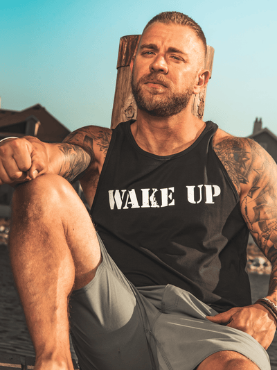 WAKE UP Mens Tank - Lions Not Sheep