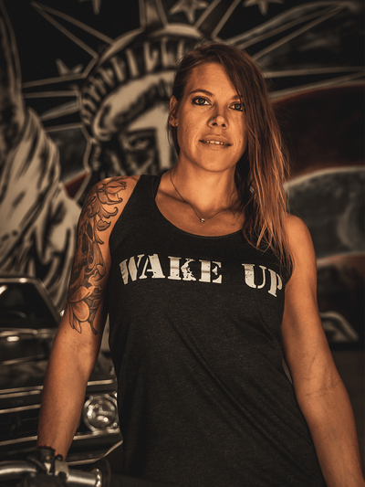WAKE UP Womens Tank - Lions Not Sheep