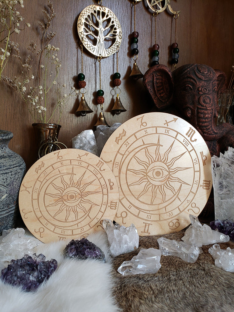 Universal Astrology Wheel Crystal Grid