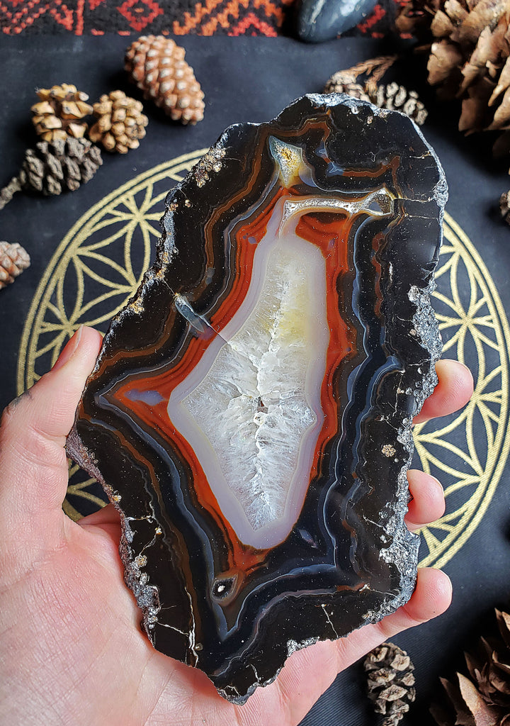 Agate Crystal Slice - 01