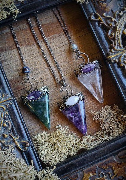 Crystal Arrow Pendant Necklaces