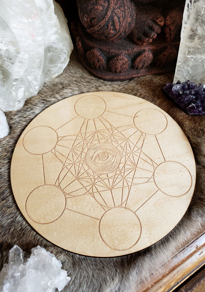 All Seeing Metatrons Cube Crystal Grid