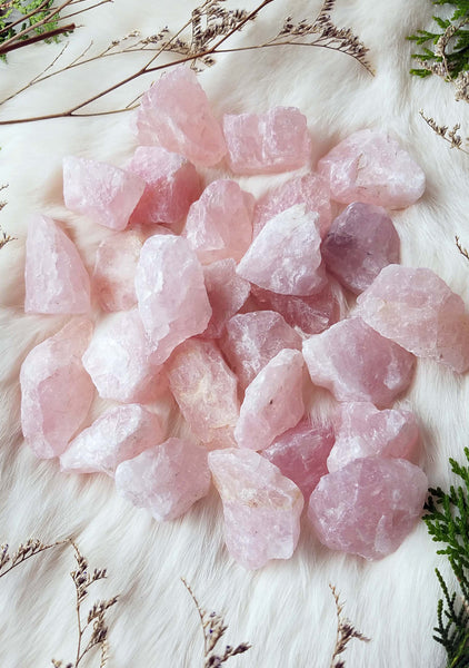 Natural Rose Quartz Crystal Chunks