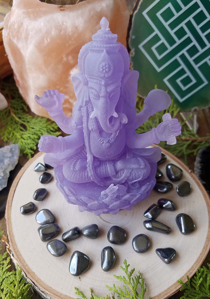 Purple Acrylic Ganesh