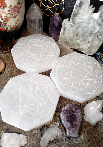 Selenite Charging Plate - Divine Connection