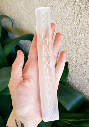 Selenite Runes Slab