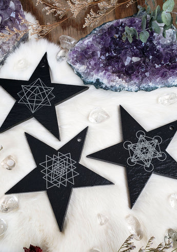 Sacred Geometry Star Ornaments // Wall Hangings