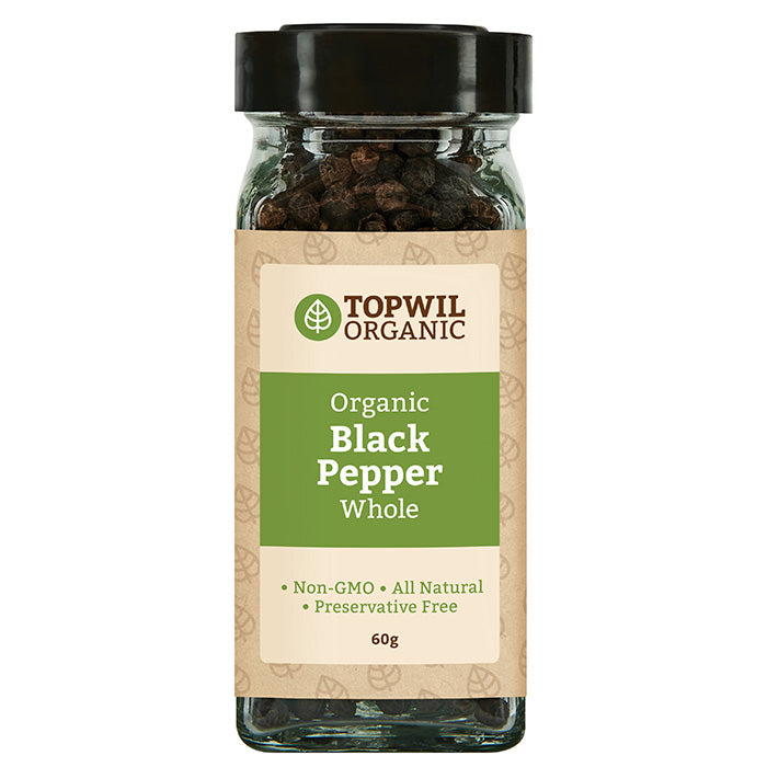 Organic Black Pepper Whole 60g