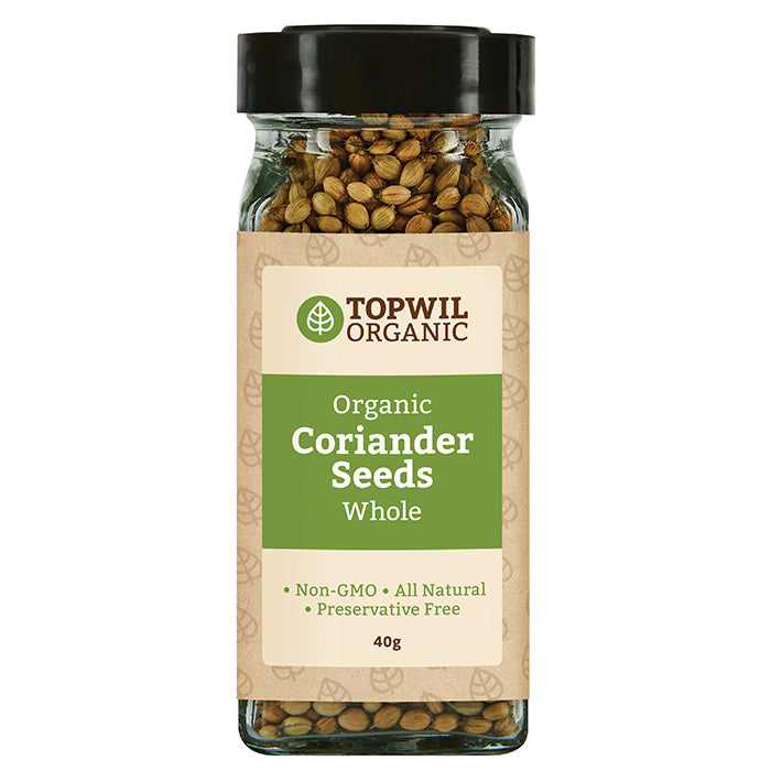 Organic Coriander Seeds Whole 40g
