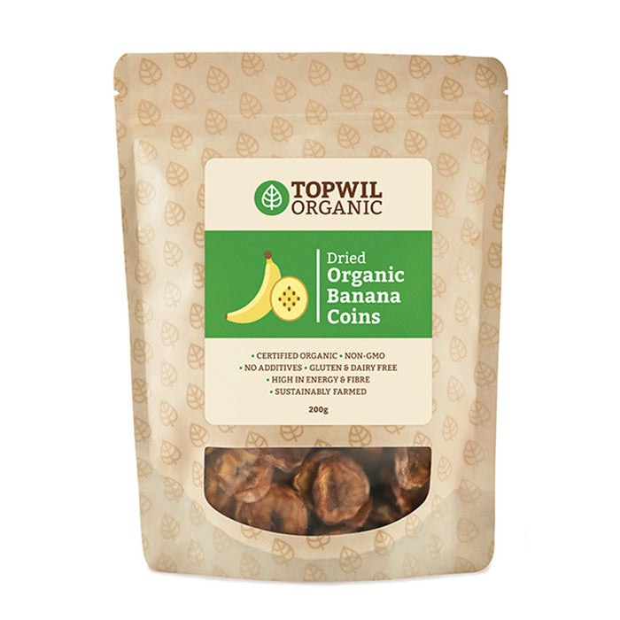 Organic  Dried Banana Coins 200g