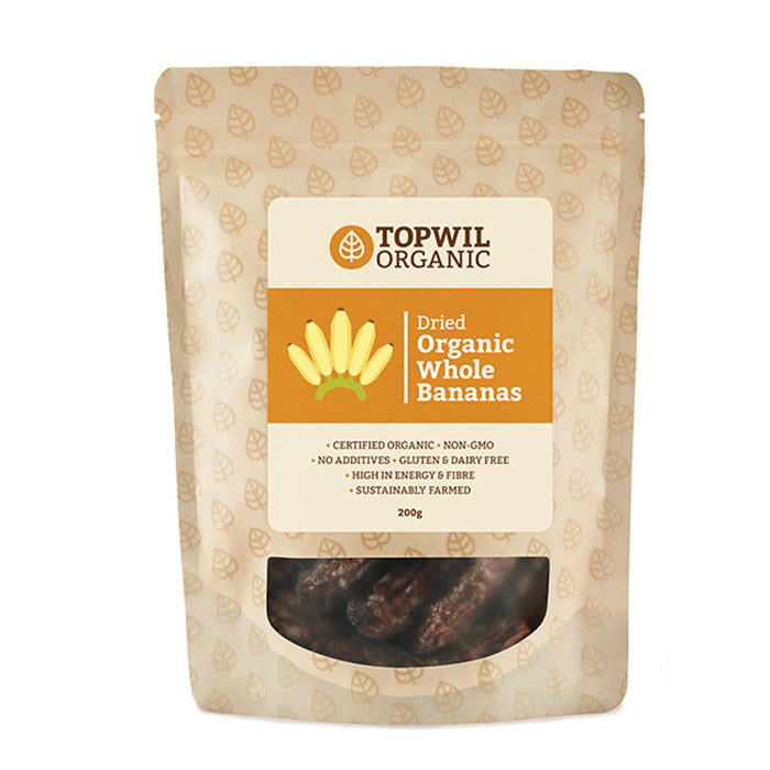 Organic Dried Whole Bananas 200g