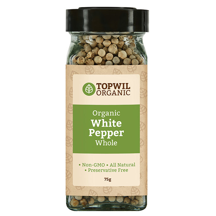 Organic White Pepper Whole 75g