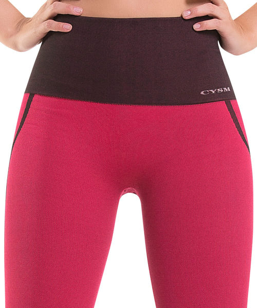 904 Ultra Compression and Abdomen Control Fit Legging Coral