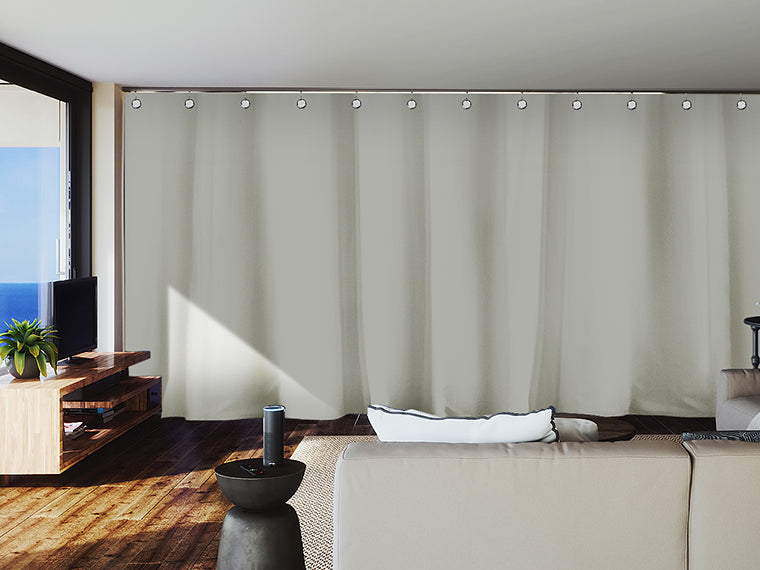 premium heavyweight curtains - open