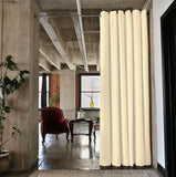 XX-Large B 12ft 6in Wide RoomDividersNow Muslin Tension Rod Room Divider Kit Gray 9ft Tall x 10ft