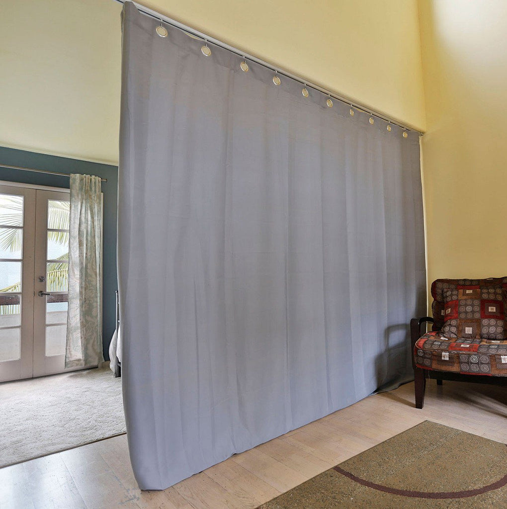 ... Gray Ceiling Track Room Divider Kits   Easy Privacy · Gray Curtain ...