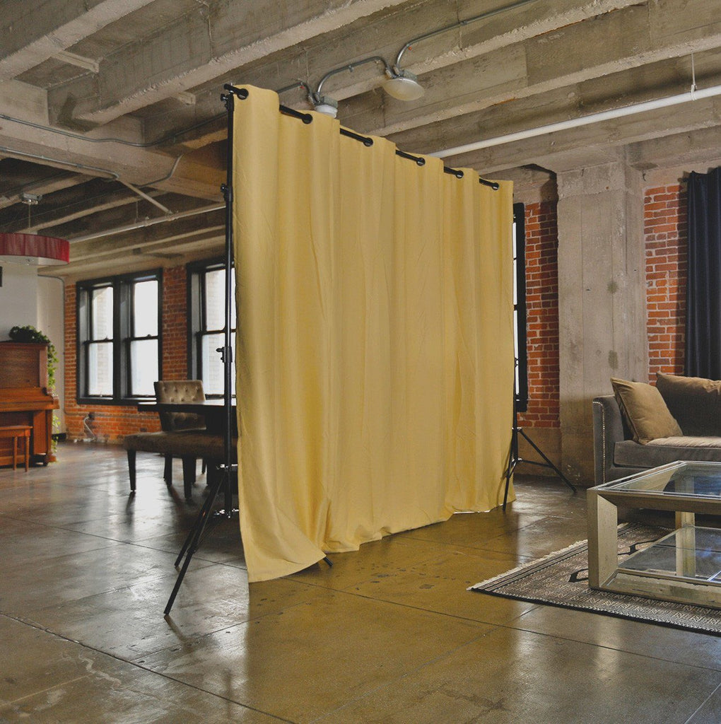 ... Dusty Gold - RoomDividersNow Freestanding Room Divider Kits - For Spaces Up
