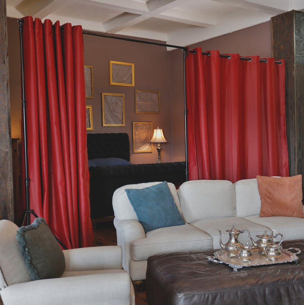 Red Premium Heavyweight Room Divider Curtains