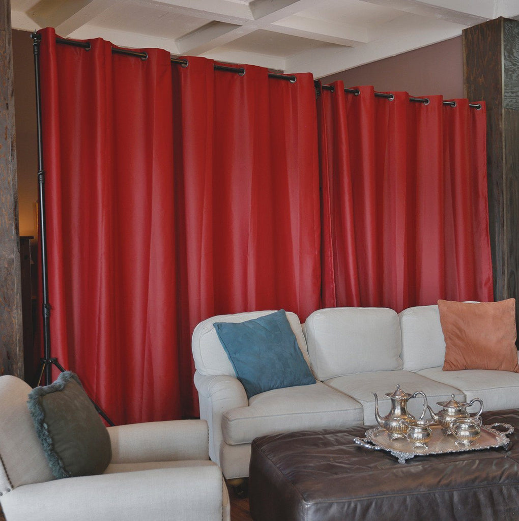 curtain room dividers roomdividersnow premium heavyweight room divider 11126