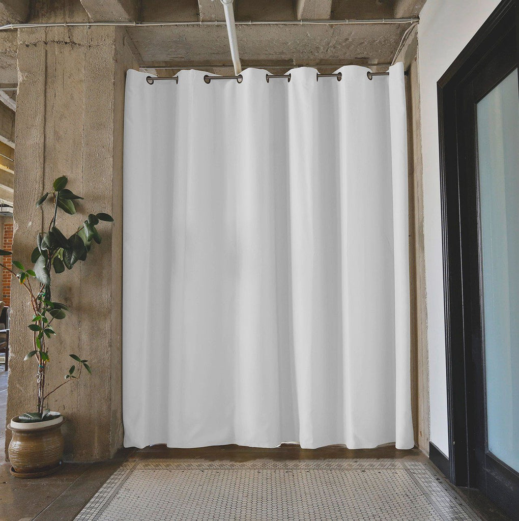 natural white divider w silver rod