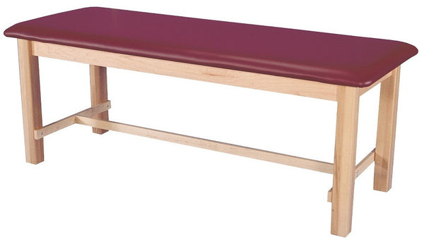 Armedica AM-600 One-Section Maple Hardwood Treatment Table with H-Brace - Core Medical Equipment