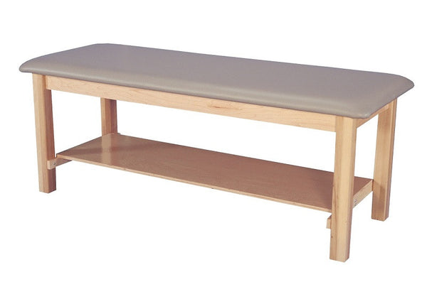 Armedica AM-604 One-Section Maple Hardwood Treatment Table with Shelf - Core Medical Equipment