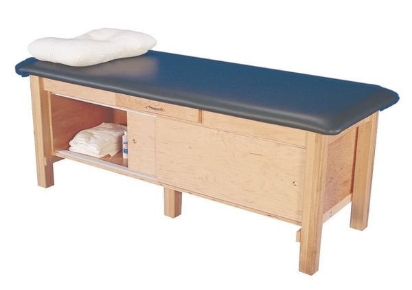 Armedica AM-612 Hardwood Treatment Table with Full Cabinet and Drawer (Includes Shipping) - Core Medical Equipment