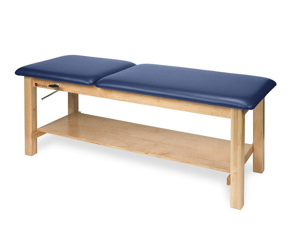Armedica AM-616 Maple Hardwood Treatment Table with Shelf and Adj. Backrest - Core Medical Equipment