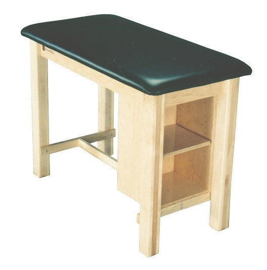 Armedica AM-624 Maple Hardwood Taping Table with End Shelf - Core Medical Equipment