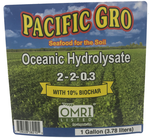 Pacific Gro Oceanic Hydrolysate 2-2-0.3 with 10% Biochar