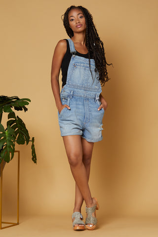 The Brody Vintage Overall - Light Wash Easy Rider