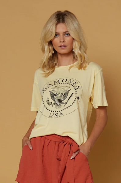 Ramones USA Crest Weekend Tee