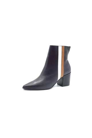 Avana Black Stripe Bootie