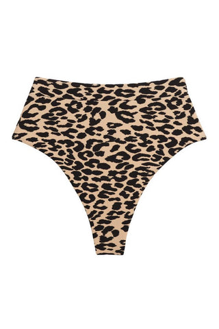 Leopard Textue Added Coverage Paulina Bikini Bottom