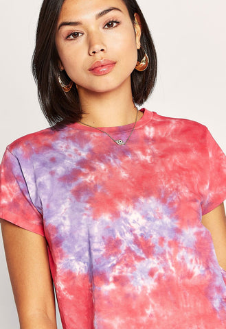 Tie Dye Girlfirend Tee - Violet Flash