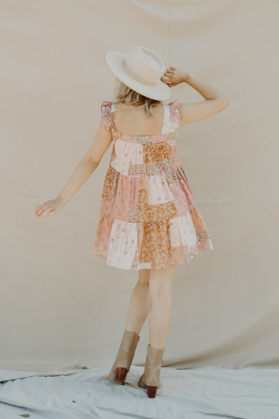 Patchwork Babydoll Dress