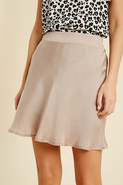 The Perfect Satin Mini Skirt