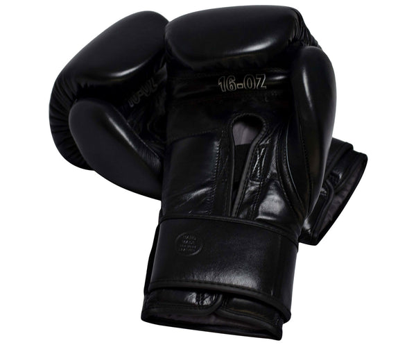 UBOX Pro Premium Black Leather Boxing Gloves