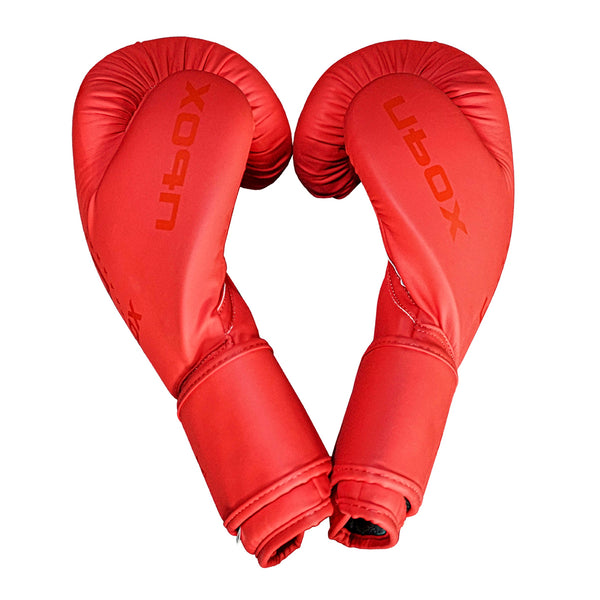 UBOX Matte Classic Red Synthetic Boxing Gloves