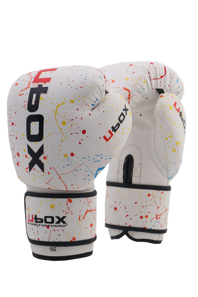 UBOX Classic Rainbow Splatter Synthetic Boxing Gloves