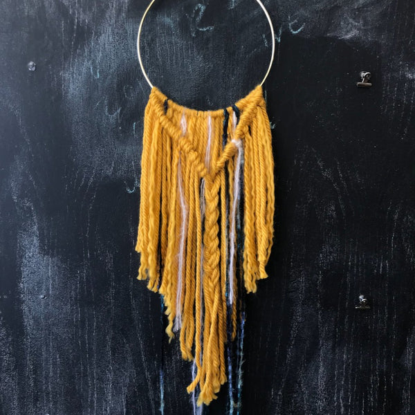 Friday Night Craft Social: Hoop & Yarn Wall Hangings. April 5th. 6:30-8:30pm