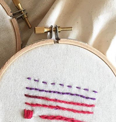Embroidery Basics. Wednesday May 3rd. 6:30-8:00pm.