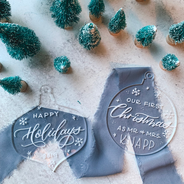 Acrylic Hand Lettered Ornaments w/ Cara Jo Knapp. Thursday, December 5th, 6:30-8:30pm.