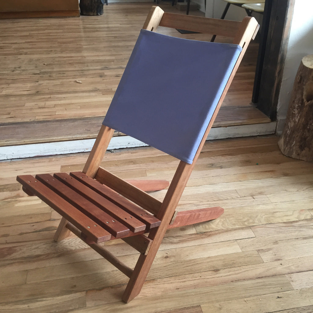 Gentil Wood + Canvas Camp Chairs. Sunday May 7th, 1 4pm.