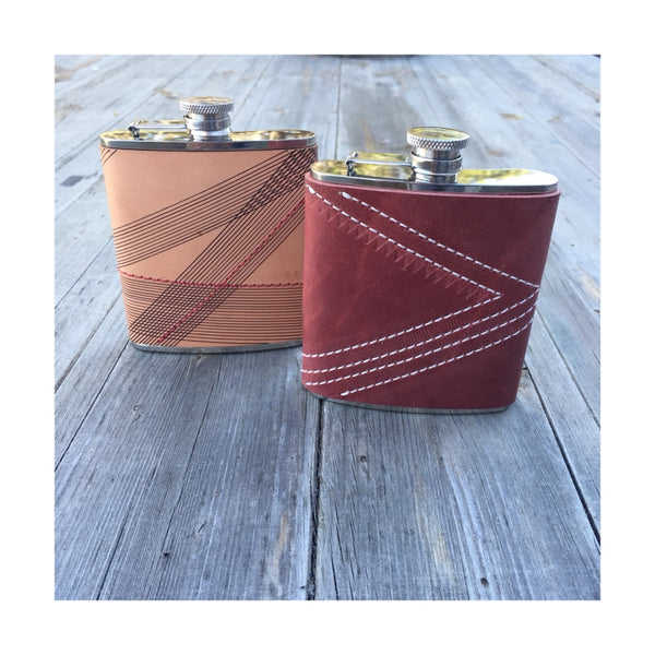 Leather-Wrapped Flasks + Leopold Bros Whiskey Tasting with Alexa Allen. Saturday, April 14th. 7-9pm.