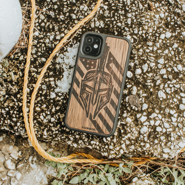 real wood gladiator Samsung Phone Case