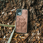 Real wood Bear iPhone Case